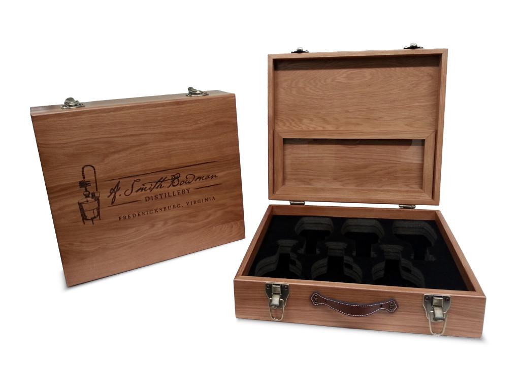 Custom White Oak Whiskey Box