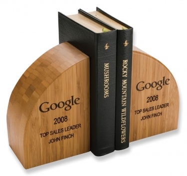 Solid Bamboo Book Ends (Amber)