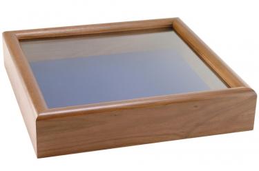 Solid Walnut Glass Front Shadow Box
