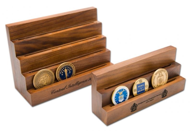 Solid Walnut Medallion Stand (Short)