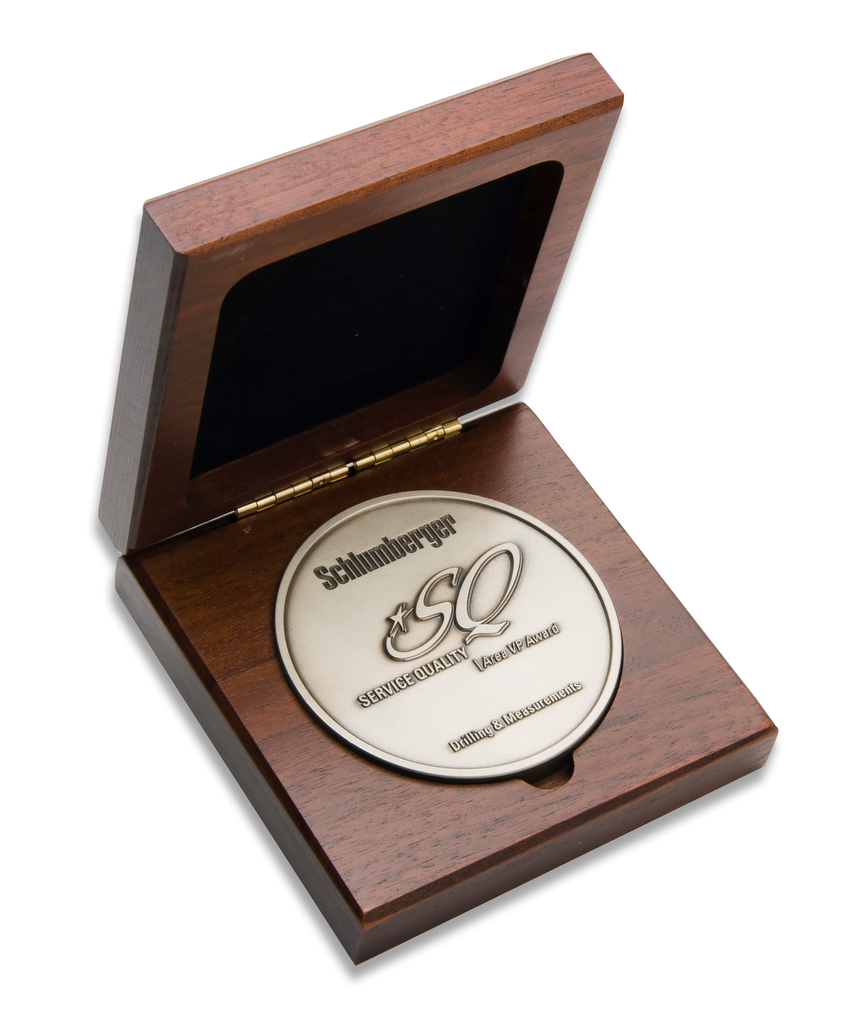 Walnut Medallion Display
