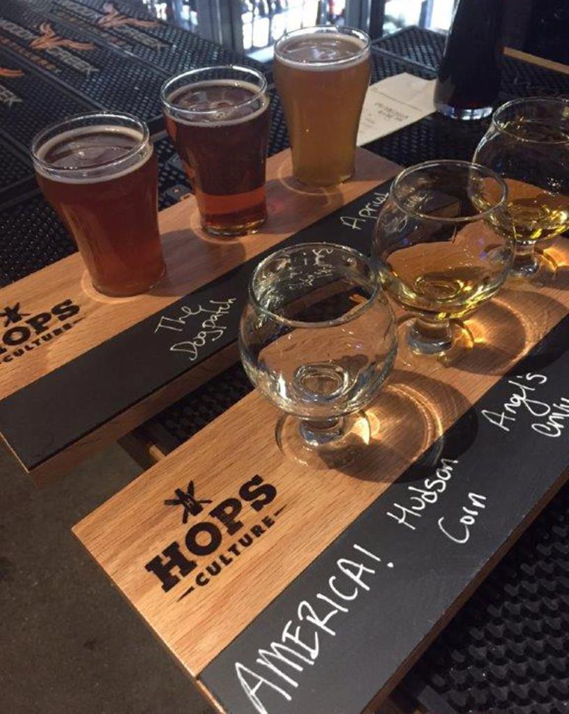 examples of custom solid wood food beverage flight trays