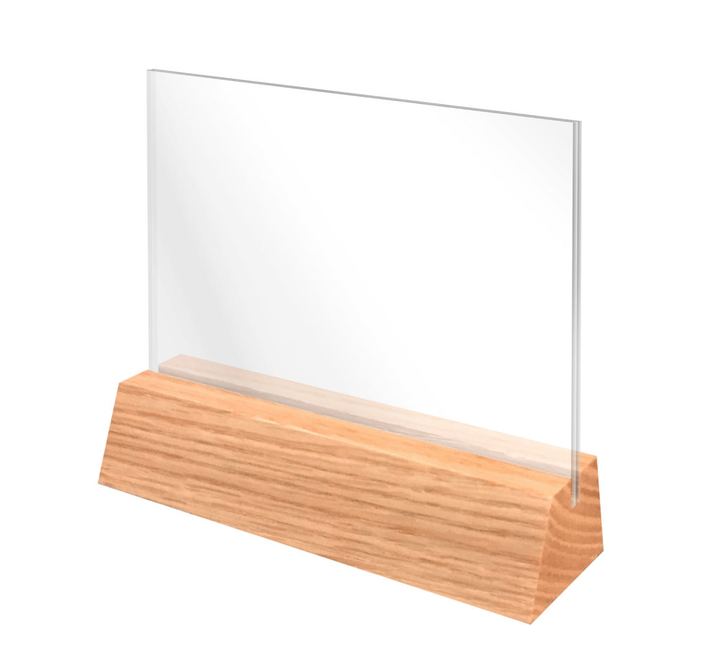 NEW SOLID WOOD TABLE TENTS - Wooden table tents