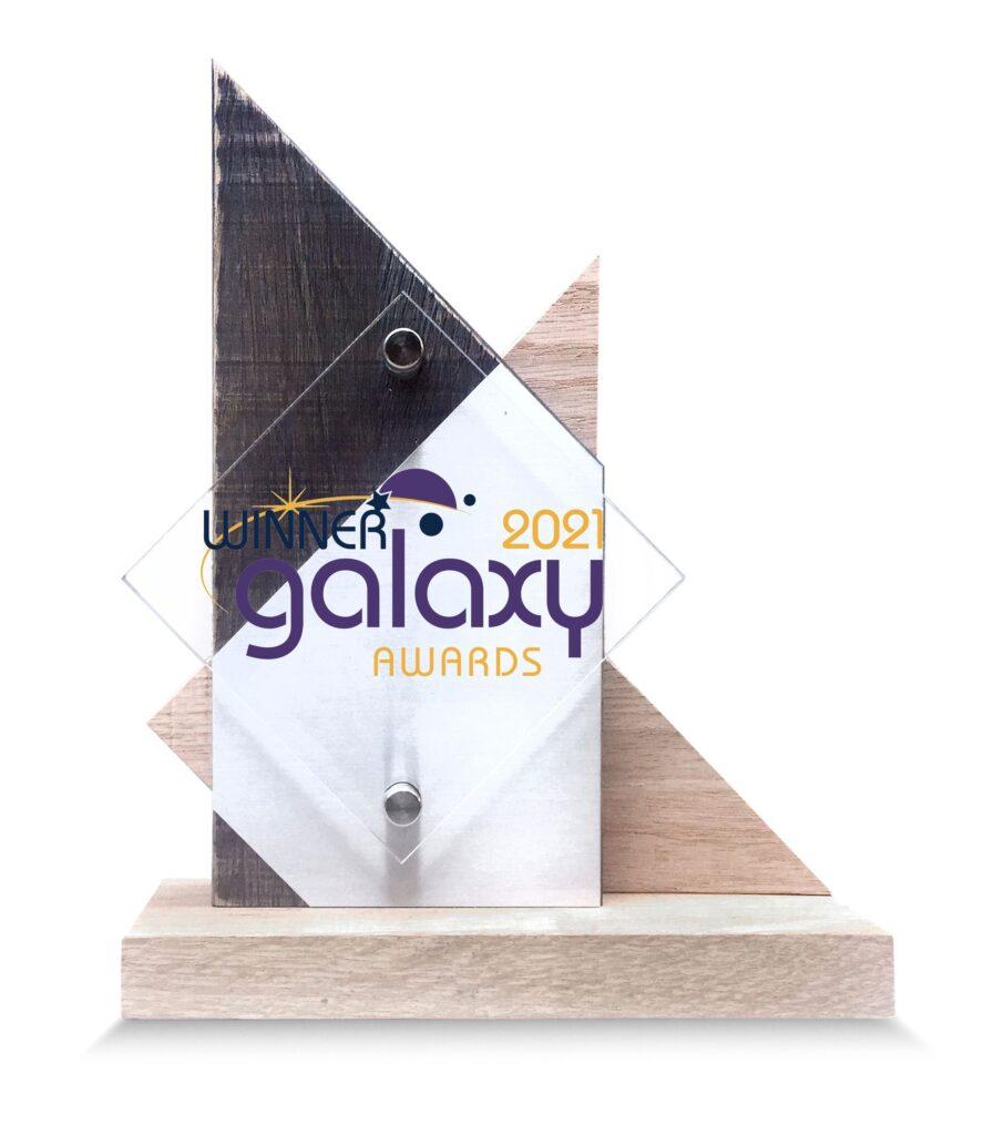 Custom Oak Award with Printed Acrylic
