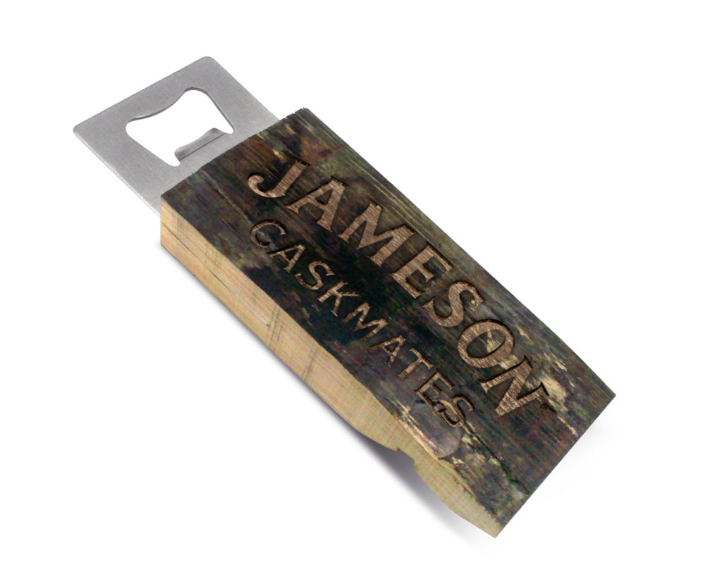 Authentic Barrel Staves Bottle Opener with Laser Engraving (BO-OS)