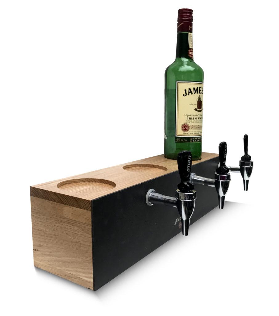 Custom Solid Oak Bottle Glorifier with UV Printing