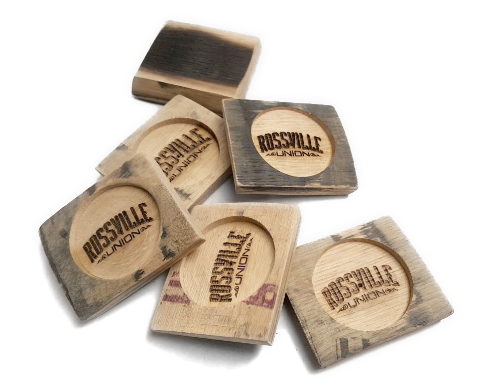 Whiskey Barrel Stave Coasters