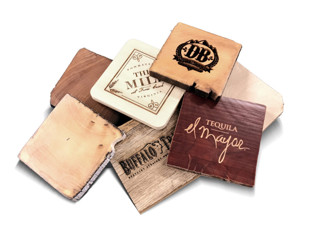 CR4 (Selection of Reclaimed Wood Coasters)