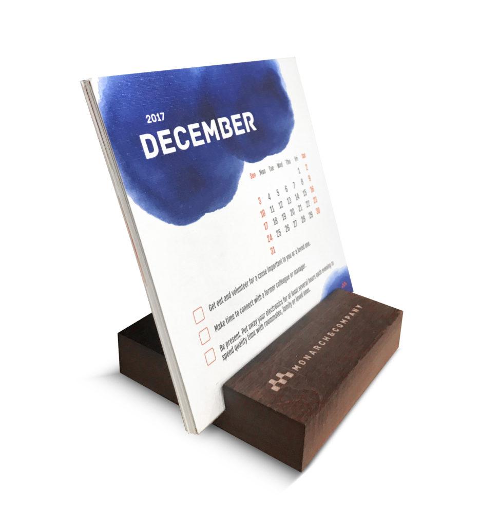 Custom Table-Top Calendar