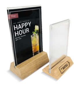 Hands-Free Menu Holders/Table Tents