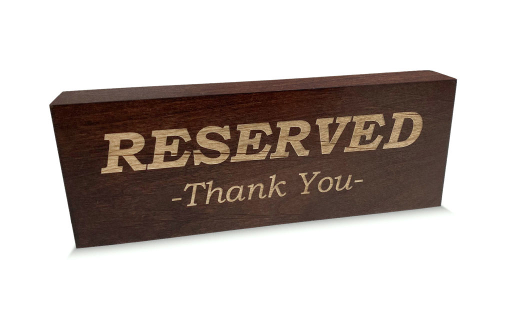 Custom Restaurant Table-Top Signage
