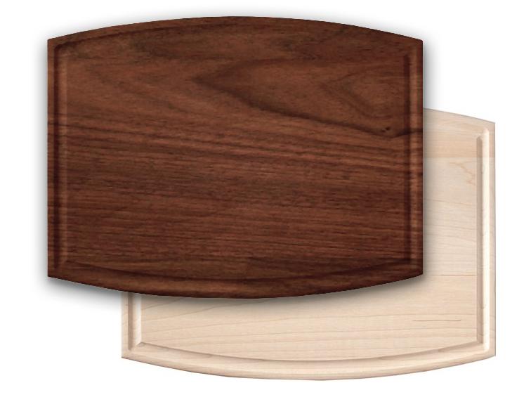CBW9x12x.75-Arched (walnut with oil) & CBM 9x12x.75-Arched (maple with oil)