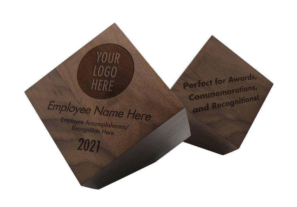Solid Walnut Award Block