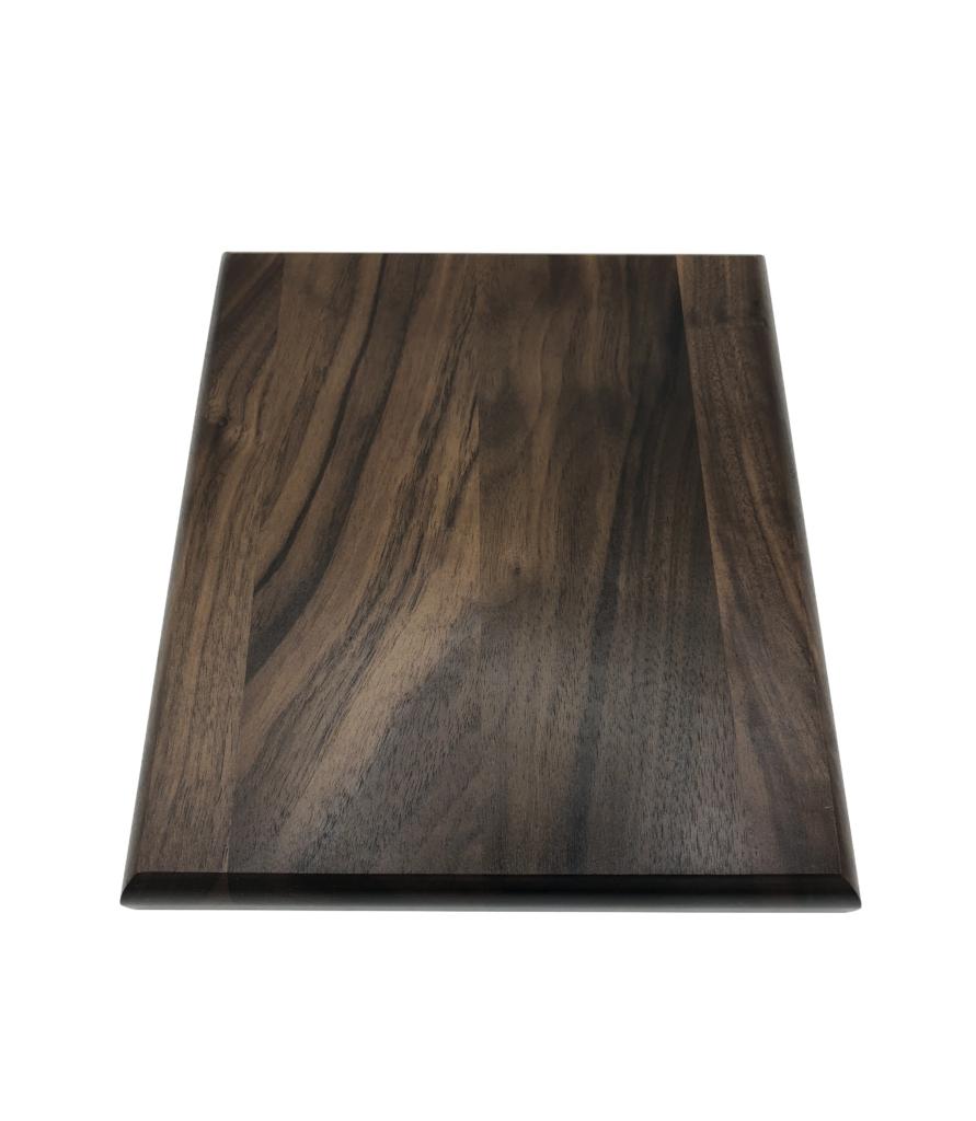 Solid 7 x 8 walnut plaque